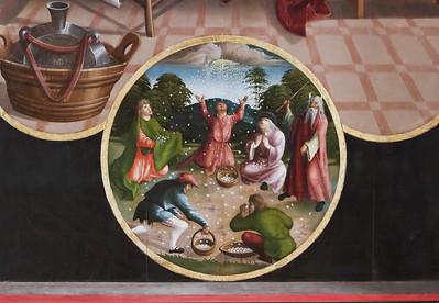 St. Niklas, Ehrenfriedersdorf, Altar, Mannalese unter Abendmahl