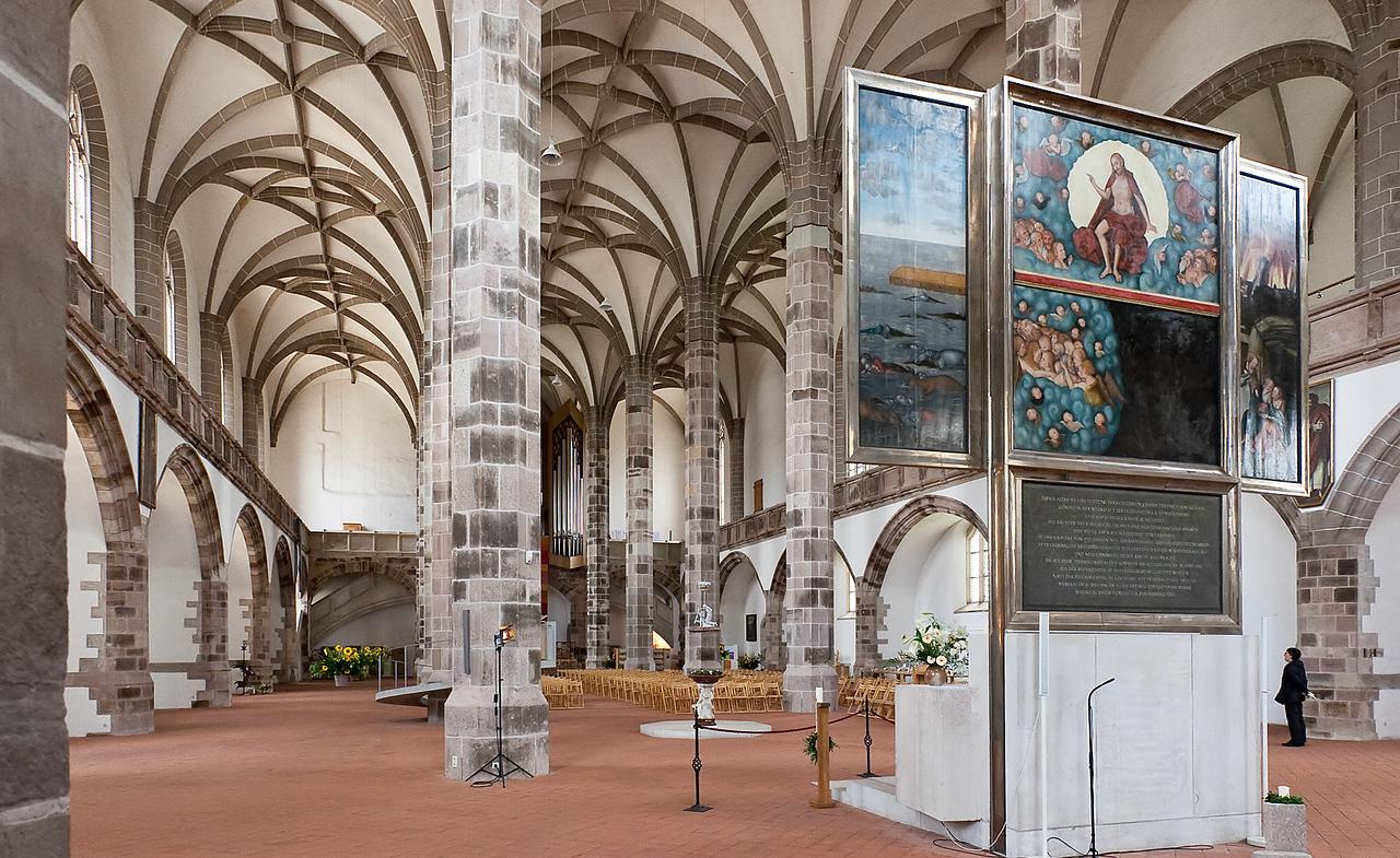 Schneeberg, St. Wolfgang, Hauptaltar aus Werkstatt L. Cranach d.Ä. (1539)