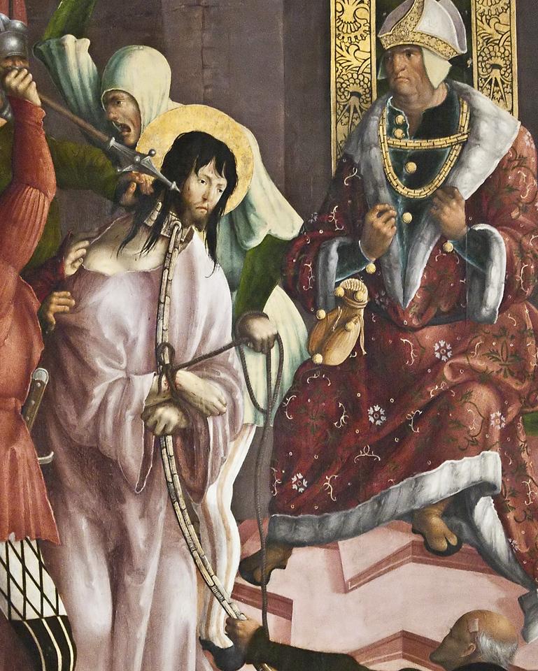 St. Niklas, Ehrenfriedersdorf, Altar, Geißelung
