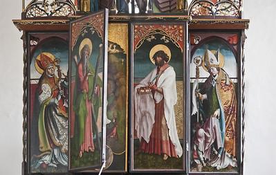 St. Niklas, Ehrenfriedersdorf, Altar, Öffnen der ersten Wandlung