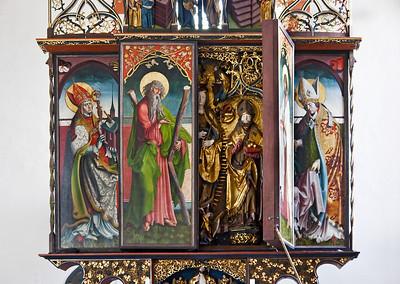 St. Niklas, Ehrenfriedersdorf, Altar, Öffnen der Festtagsseite