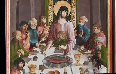 St. Niklas, Ehrenfriedersdorf, Altar, Detail des Abendmahls