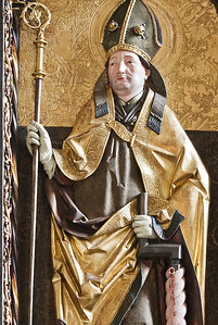 St. Niklas, Ehrenfriedersdorf, Altar, Hl. Erasmus (Meister H.W.)