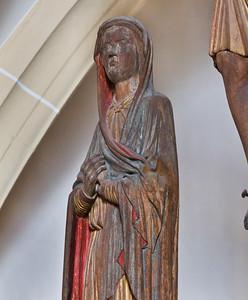 Freiberg, Dom. Triumpfkreuz: Maria, Detail