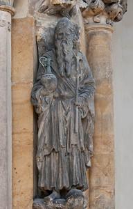 Freiberg, Dom. Goldene Pforte, Prophet Aaron