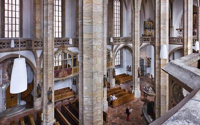 Freiberg, Dom. Innen, Blick von Südwesten