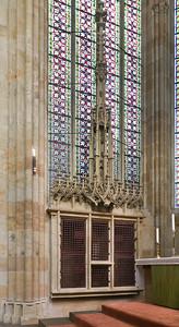 Meißen, Dom. Chor: Sakramentshaus (Ende 15. Jh.)