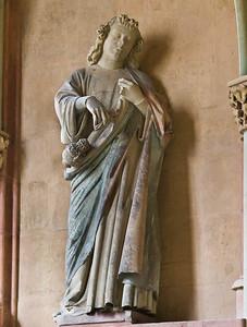 Meißen, Dom. Achteckbau: Engel (Naumburger Meister, um 1270)