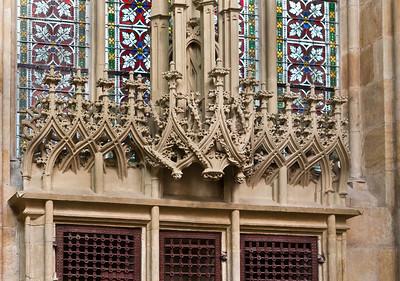 Meißen, Dom. Chor: Sakramentshaus, Detail