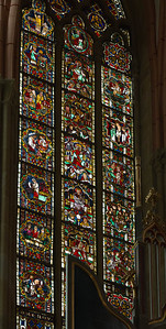 Meißen, Dom. Ostfenster: Opferszenen, Könige, Leben Christi (um 1260)