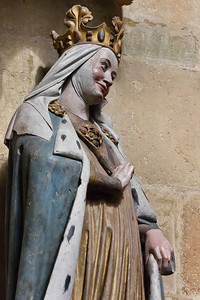 Meißen, Dom. Chor: Adelheid, Detail
