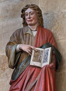 Meißen, Dom. Chor: Johannes Evgl., Detail (um 1265)