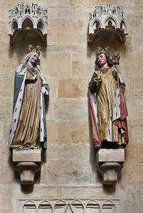 Meißen, Dom. Chor: Otto I. und Adelheid, Bistumsgründer (Naumburger Meister, um 1265)