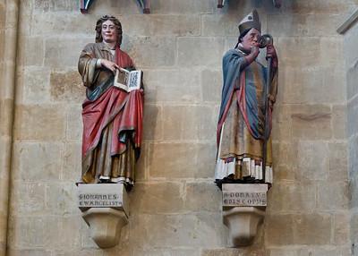 Meißen, Dom. Chor: Johannes Evgl. und Bischof Donatus, Bistumsheilige (Naumburger Meister um 1265)