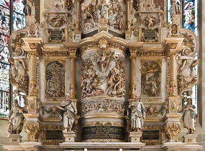 Pirna, St. Marien, Altarretabel von Michael und David Schwenke (1614)