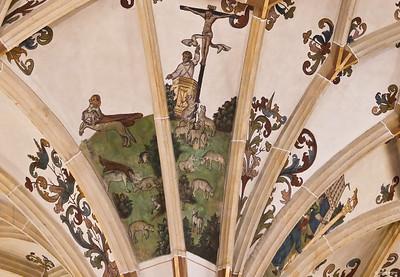 Pirna, St. Marien, 3. Pfeiler Nord, die falschen Lehrer (verkappte Wölfe)