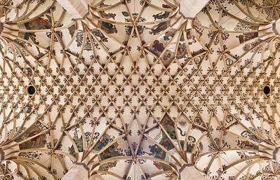 Pirna, St. Marien, Gewölbe im Mittelschiff