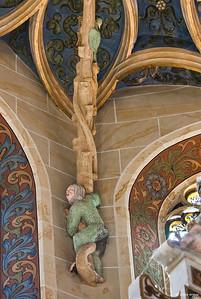 Pirna, St. Marien, Wildleute im Chorgewölbe