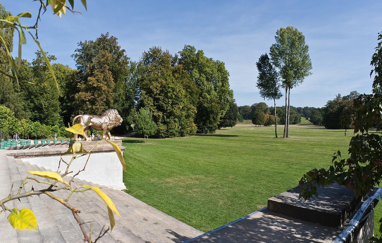 Muskau, Unterpark, Schlosswiese