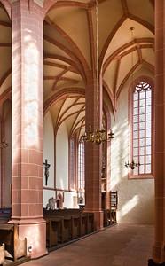 Rochlitz, Kunigundenkirche. Blick aus südl. Seitenschiff nach Nordost