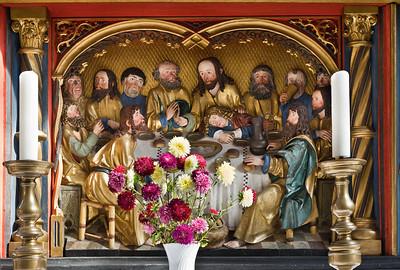 Rochlitz, Kunigundenkirche. Hochaltar, Predella: Abendmahl