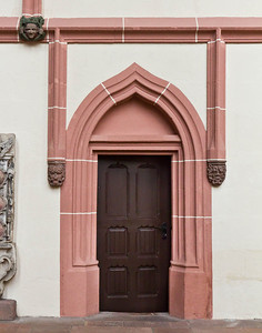 Rochlitz, Kunigundenkirche. Tür im Chor