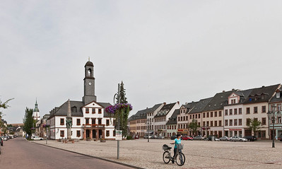 Rochlitz, Marktplatz von Westen