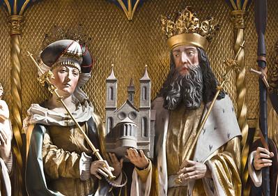 Rochlitz, Kunigundenkirche. Hochaltar, Schrein: Kaiserpaar Kunigunde + Heinrich II.