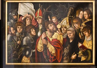 Torgau, Marienkirche, Lucas Cranach d.Ä.: 14 Nothelfer (1505)