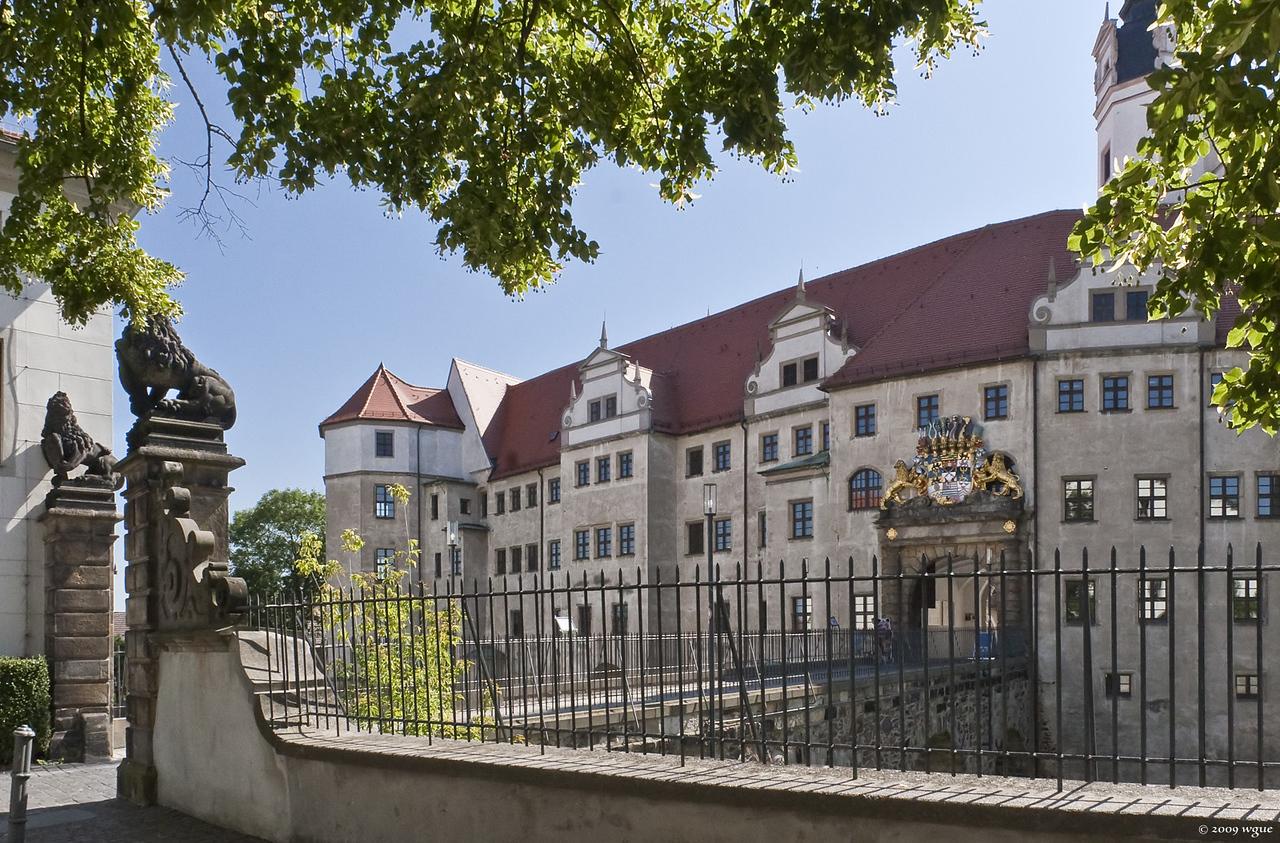 Torgau, Schloss Hartenstein, Westseite