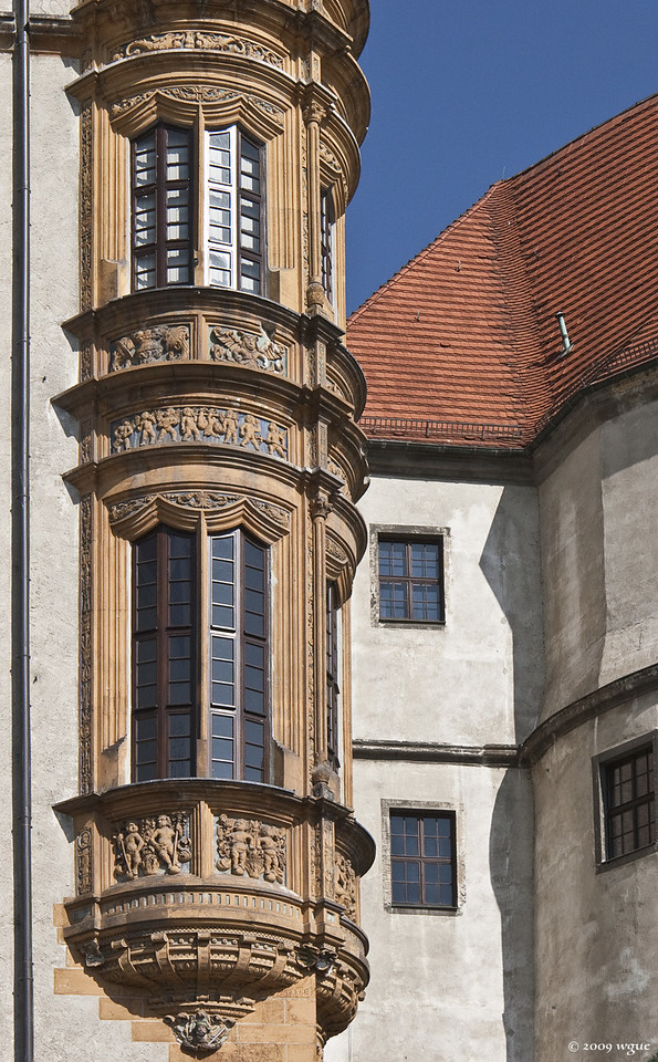 Torgau, Schloss Hartenfels, Erker im Südosten