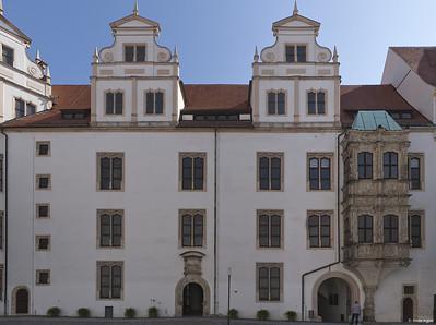 Torgau, Schloss Hartenfels, Schöner Erker und Schlosskapelle