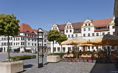 Torgau, Marktplatz, Westseite