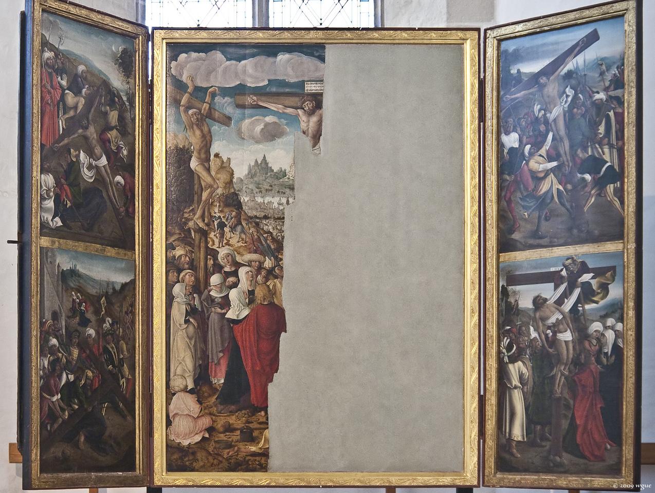 Torgau, Marienkirche, Passionsaltar, Mitteltafel 1945 tlw. zerstört  (1509)