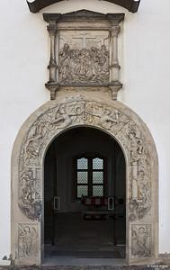 Torgau, Schloss Hartenfels, Innenhof, Portal der Schlosskapelle
