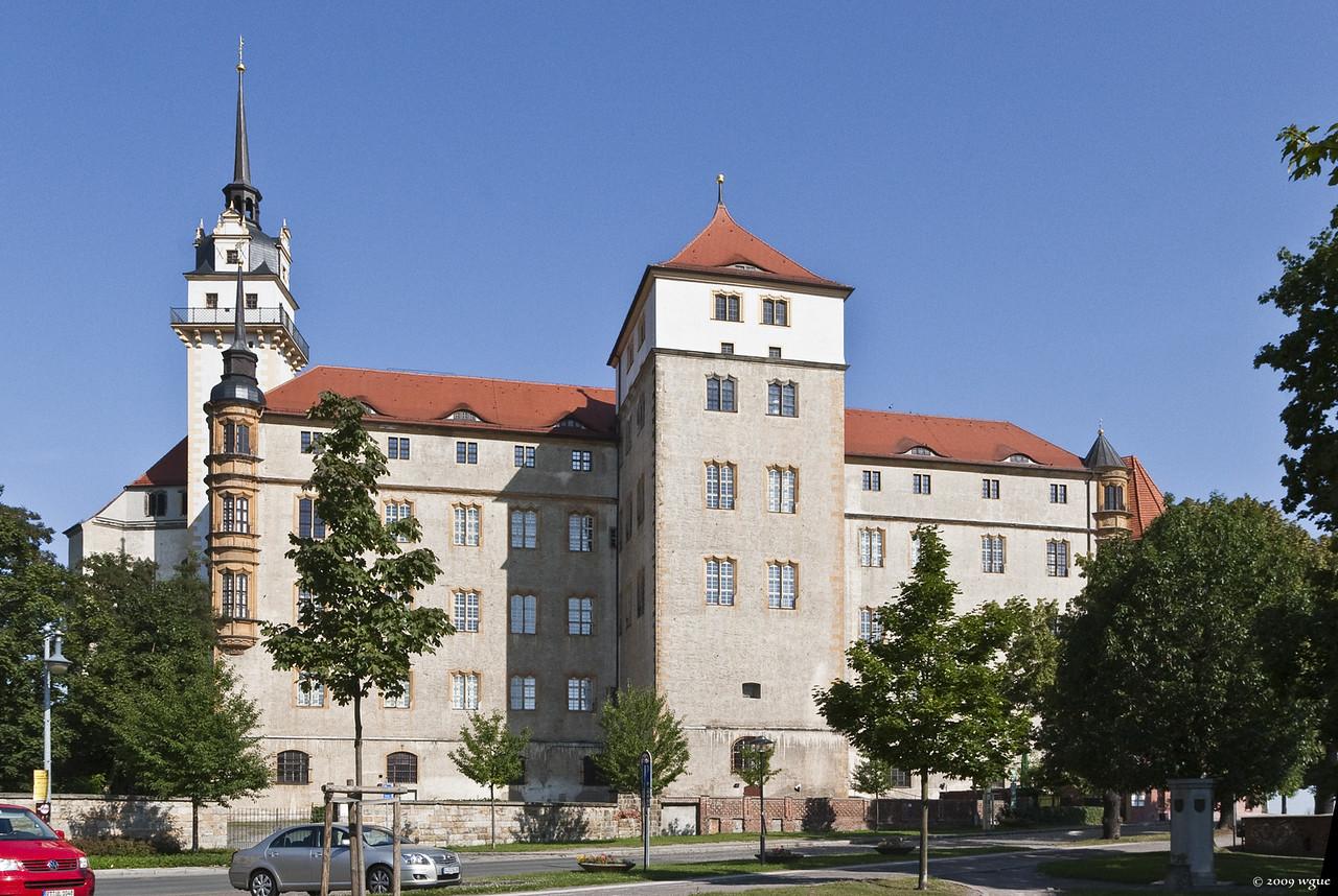 Torgau, Schloss Hartenfels von Süden