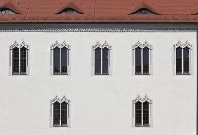 Torgau, Schloss Hartenfels, Innenhof, Westfassade