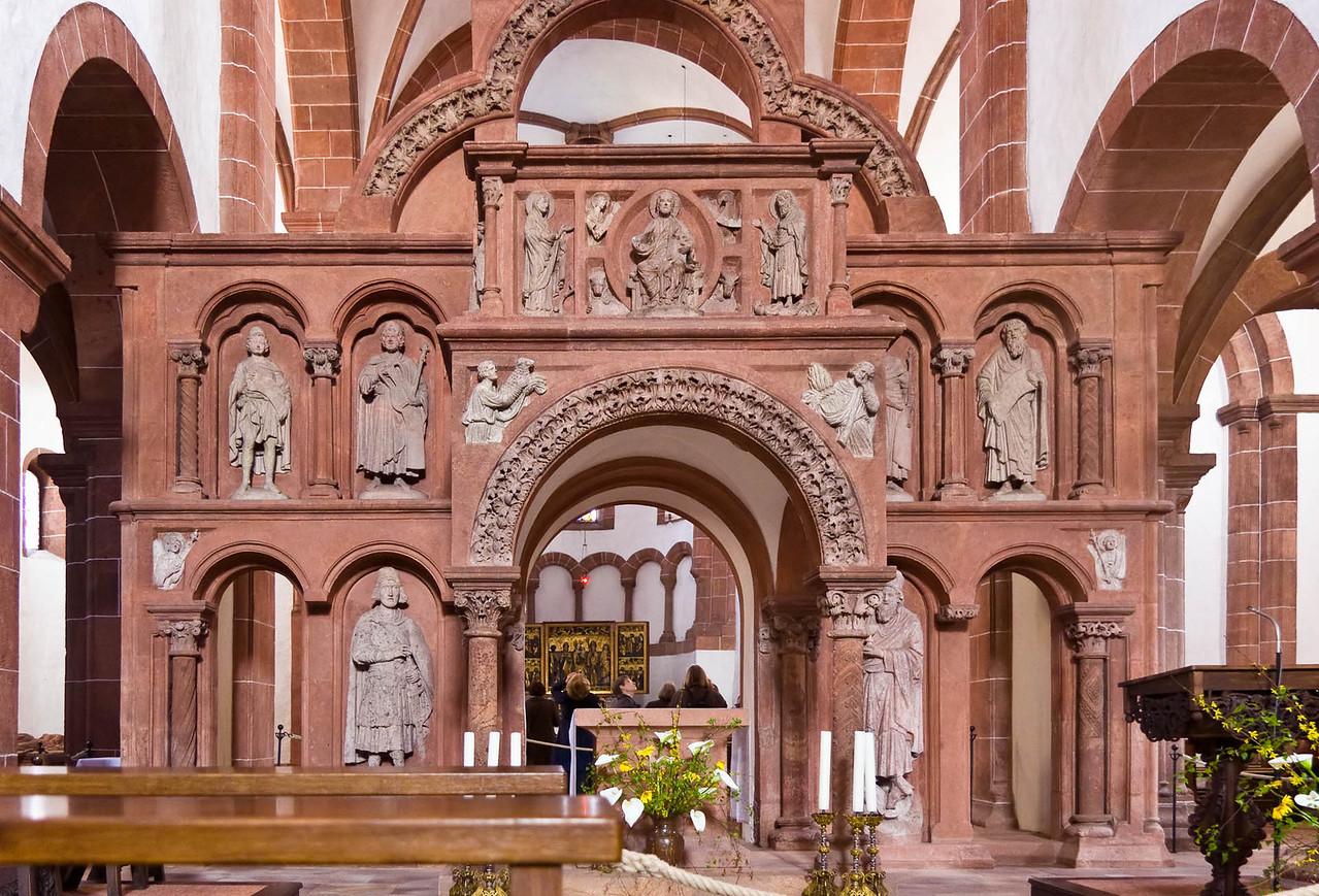 Wechselburg, ehem. Augustinerchorherrenstift. Lettner (1.Dr. 13. Jhdt)