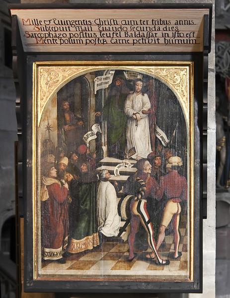 Franz Hesse: Christus vor Pilatus, Zwickau, St. Marien, (Epitaph für Baltasar Teufel, 1509)