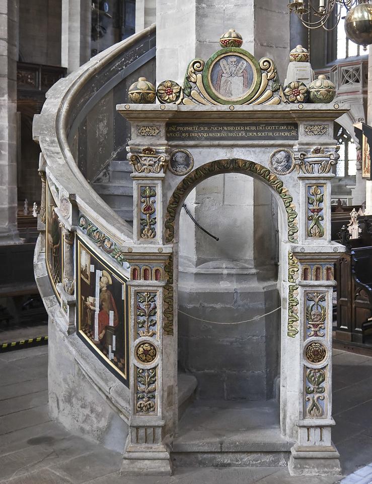 Zwickau, St. Marien, Paul Speck: Kanzel (1538)