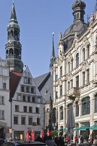 Zwickau, Hauptmarkt mit Blick auf Dom