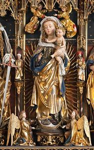 Zwickau, St. Marien, Hauptaltar, Schnitzfiguren Nürnberger Werkstatt, 1479