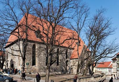 Arnstadt, Bachkirche (1444/1783); J. S. Bach (*1685) war hier Organist von 1703-1707