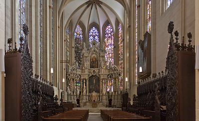 Erfurt, Dom, Chor mit Gestühl (1360)