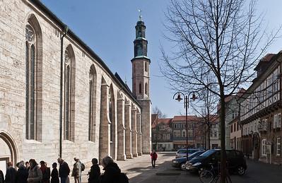 Mühlhausen, Blick auf Kornmarktkirche