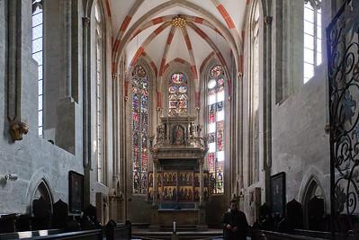 Mühlhausen, Blasiuskirche, Blick in den Chor