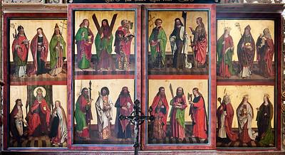 Mühlhausen, Blasiuskirche, Altar (Ende 15. Jhdt.)