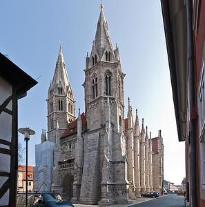 Mühlhausen, Blasiuskirche von Südwesten