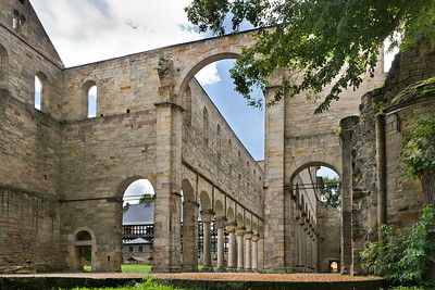 Klosterkirche Paulinzella - Blick aus Vierung nach Südwesten