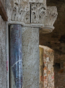 Weissensee, Runneburg. Portal des Festsaals auf Hofseite (östl.), Detail